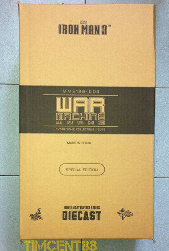 listo  Hot Toys MMS198D03 Iron Man 3 máquina de guerra Mark II Diecast 1 6 especial