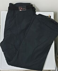 COLUMBIA-CONVERT-Black-Waterproof-Ski-Snow-Snowboard-Pants-MEN-Size-XL-Pre-Owned