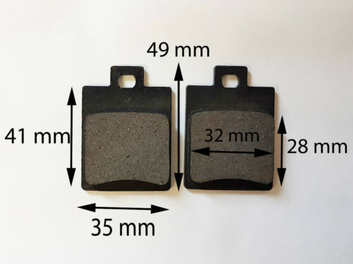 BP003 SET OF BRAKE PADS FOR 50CC - 150CC DIRT / PIT / QUAD BIKE