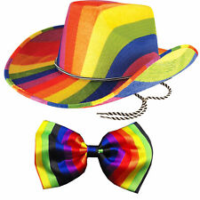 Adults Unisex Gay Pride Carnival Rainbow Squid Hat Parade Multi Fancy Dress Hat