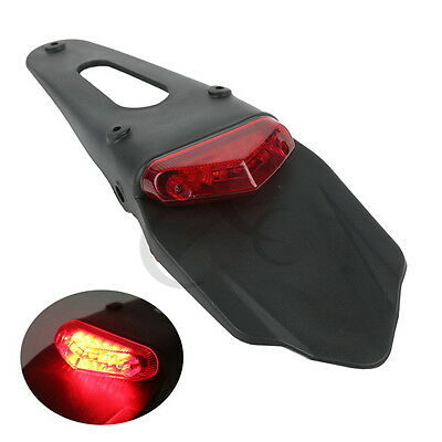 Red LED Tail Lamp Light For Universal Dirt bike Dual Sport Motocross Off Road