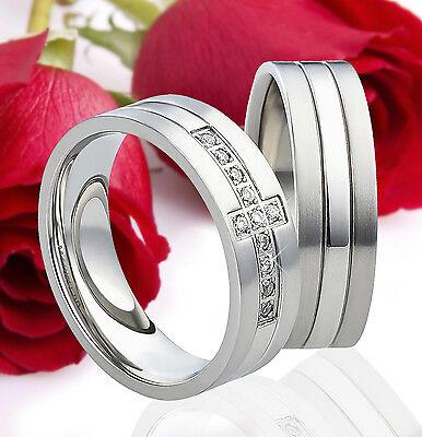 2 Ringe Eheringe Trauringe Verlobungsringe Partnerringe Gravur Gratis Te0834 Dauerhafter Service
