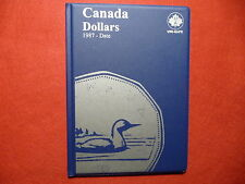 UNI-SAFE CANADIAN  DOLLARS (LOONIES)  FOLDER  ALBUM    (1987 TO DATE)  (#1)