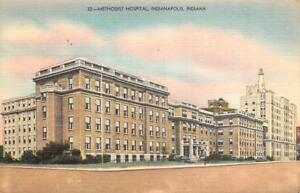 INDIANAPOLIS-IN-Indiana-METHODIST-HOSPITAL-c1940-039-s-Linen-Postcard