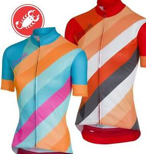 Castelli-Prisma-Women-039-s-Full-Zip-Short-Sleeve-Cycling-Jersey