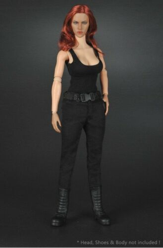 "1//6 T-800 Black Leather Jacket Suit Set For Terminator 12/"" Female Figure ❶USA❶"