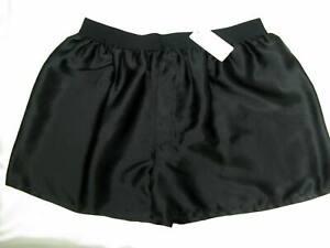 Mens-boxers-Underwear-100-silk-pure-charmeuse-silk-Black-Size-L1693-Acorn-k