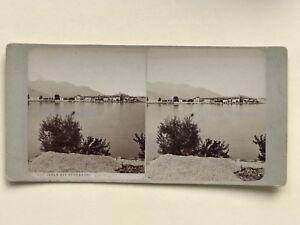 Isola-Dei-Pescatori-Italia-Foto-Stereo-Vintage-Albumina-c1890