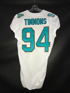 94 LAWRENCE TIMMONS MIAMI DOLPHINS GAME USEDTEAM ISSUED NIKE JERSEY  for sale