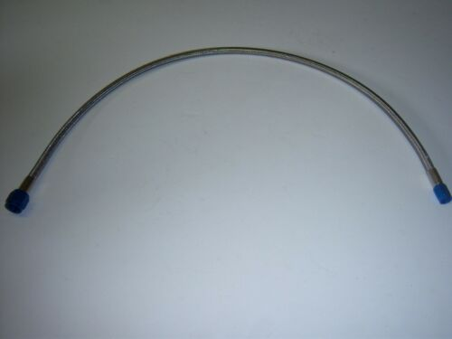 """4 AN 10/"""" NITROUS OXIDE STAINLESS STEEL LINE BLUE OR RED ENDS"""