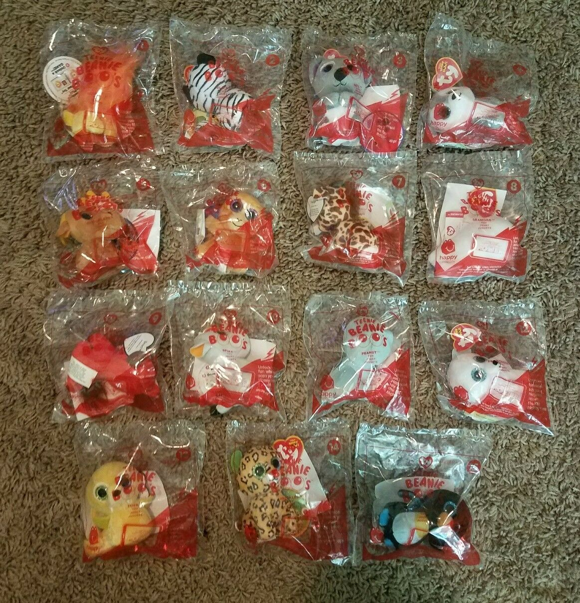 Mcdonalds Teenie Beanie Boos Happy Meal Toys Complete Set Of 15 New 2017