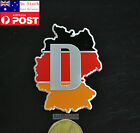 Germany Map Flag 3D ABS Car Truck Badge Emblem Sticker Decal Self Adhesive 7cm