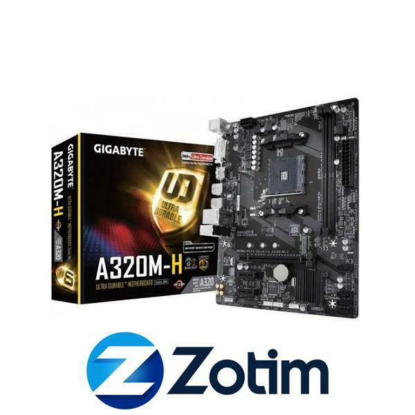 Gigabyte GA-A320M-H, AM4 Micro-ATX Motherboard, AMD A320 Chipset, AM4 Socket
