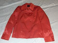 """Womens VERO MODA """"Misty"""" CORAL Short Double Breast Lined JACKET Size M Chest 36"""""""