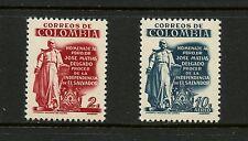 Colombia 1957 #675,C301 Jose Matias Delgado liberator of elSalvador 2v. MNH J318