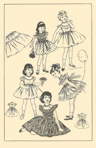 Vintage 1950/'s Sewing Pattern Child/'s Pretty Frilly Party Dress Age 4 Years