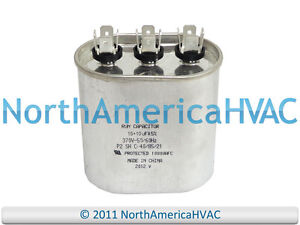7.5 uf MFD 370//440 Volt VAC ClimaTek Oval Capacitor fits American Standard # CPT1865