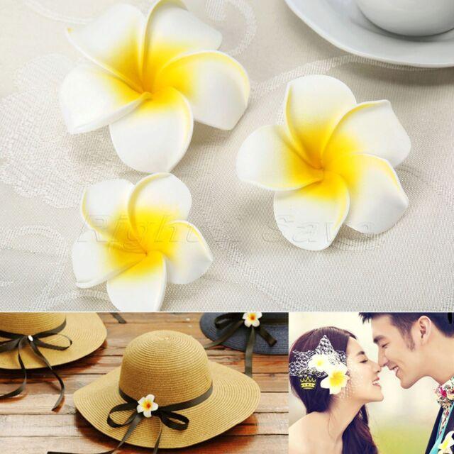 10/50pcs Artifical Foam Frangipani Flowers Wedding Bouquet Party DIY Decoration
