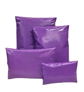 Purple-Coloured-Mixed-Mailing-Bag-Poly-Postal-Mail-Polythene-Post-Strong-4-Sizes
