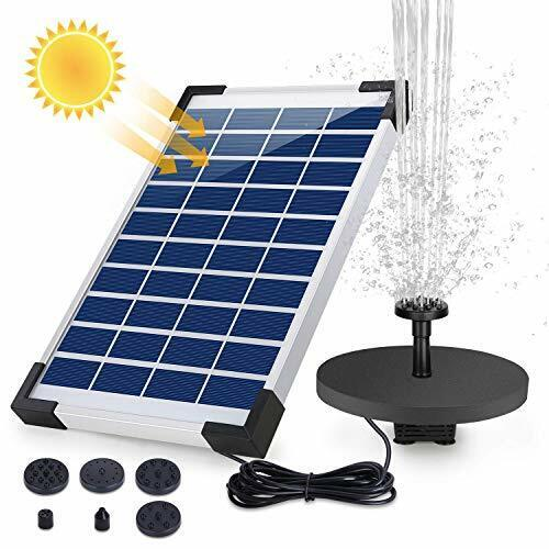 Solar Powered Water Fountain - Floating Fountain with Backup Battery