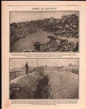 WWI Poilus Bataille de Champagne Bois Sabot/Autobus La Meuse 1916 ILLUSTRATION