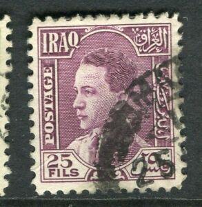 100% De Qualité L'irak; 1934 Early King Ghazi Question Fine Utilisée 25 F. Valeur-afficher Le Titre D'origine