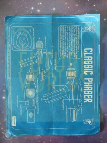 Star Trek Playmates Art Asylum Toy Original Instructions Manuals Blueprints Lot