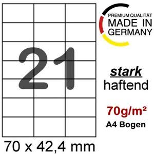 1050 Haftetiketten 70 x 42 mm A4 Etiketten Internetmarke Briefmarke Porto 3652