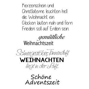 Details Zu Clear Stamps Weihnachten 9 Advent Spruch Text A7 Stempel Transparent