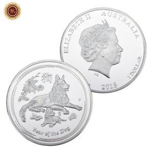 WR-2018-Australian-Lunar-Year-of-the-Dog-SILVER-Coin-Round-Queen-Elizabeth-II-1