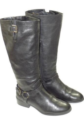 glissière pluie 10b 160 Lauren cuir femmes Bottes fermeture à en Ralph pour de taille confortable RqR41