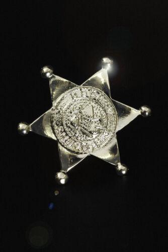 Etoile de shérif en métal argenté fetes cow boy  carnaval deguisement costume
