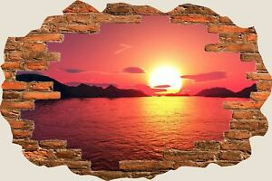 3D-Hole-in-Wall-Peacefull-Sunset-Wall-Stickers-Film-Mural-Art-Decal-Wallpaper-12