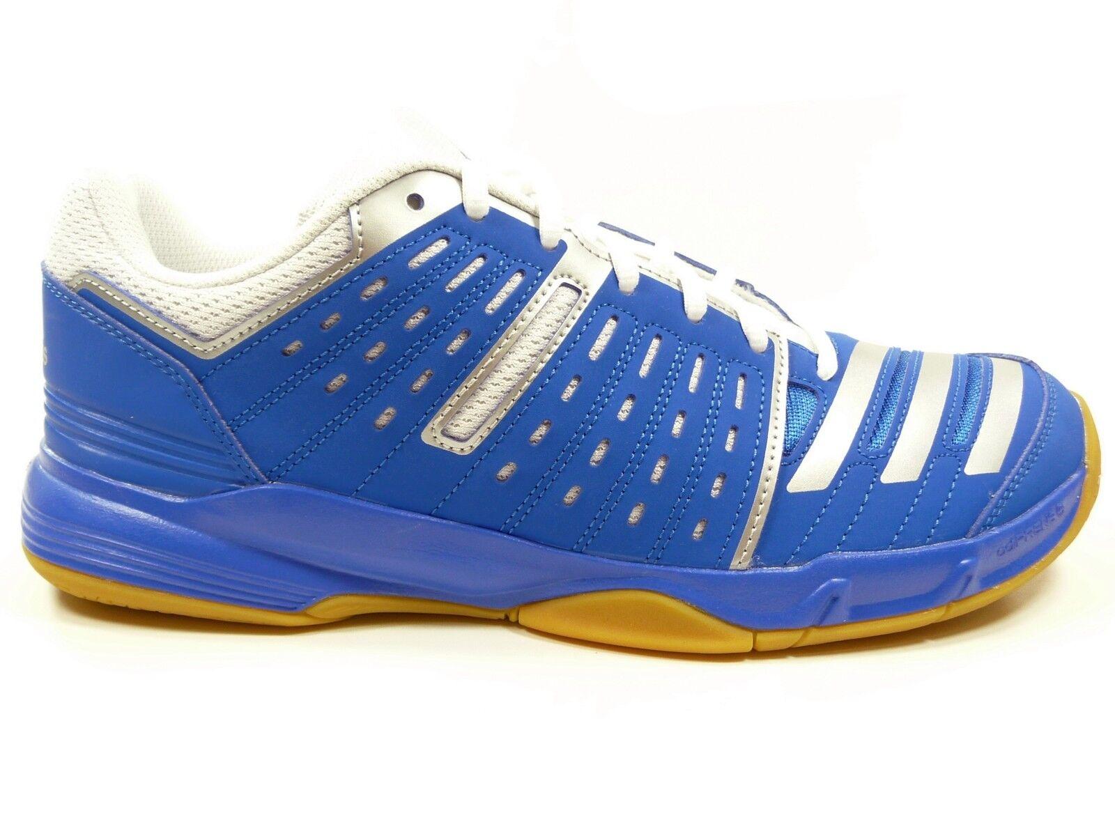 adidas Sportschuhe Indoor-Hallenschuhe in Blau Weiss Silber (Essence12 B33033)