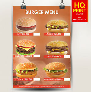 Burger-Fast-Food-Restaurant-Takeaway-Poster-Print-A4-A3-A2-A1-Shop-Decal