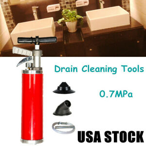 """Pipe Cleaners Kinetic Water Ram Drain Cleaning Tools+4/"""" Rubber Cone FAST SHIP"""