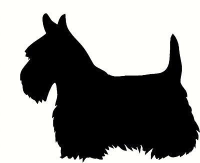 scottish terrier Sticker Car wall door laptop vinyl decal silhouette Dog breed
