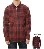 Alpinestars Mens 1032-31000 Geiger Dark Red Long Sleeve Plaid Woven Shirt