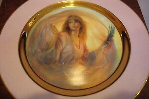 034-Morning-Glow-034-American-Indian-COLLECTOR-PLATE-gorgeous-gold-and-pink-a4-1
