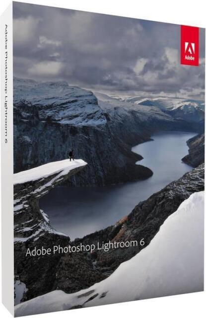 Adobe Photoshop Lightroom 6 Vollversion DVD, inkl. Zweitnutzungsrecht, Win/Mac