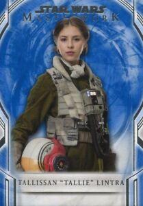 "Star Wars Masterwork 2018 Blue Base Card 87 Tallissan ""Tallie"" Lintra"