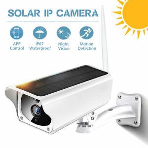 WiFi IP Solar ÜberwachungsKamera Außen Kabellose CCTV Nachtsicht WLAN 1080P HD
