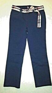 Gymboree Girls Navy Blue Straight Leg Stretch Legging Pants Size 4