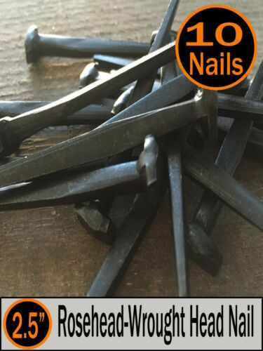 "Rosehead Nails 2.5/"" 8d Decorative Antique wrought square head 10"