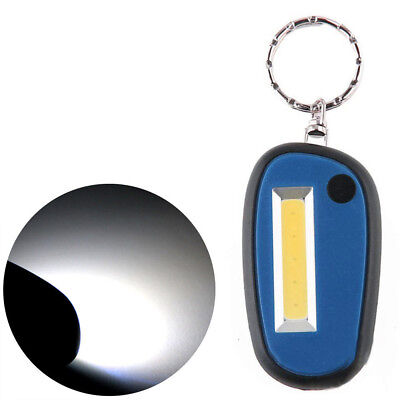 3Modes Mini USB Rechargeable COB LED KeyChain Flashlight Outdoor Pocket YY