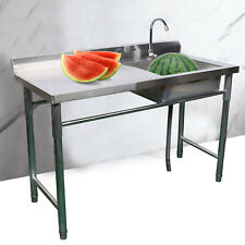 New Listingcommercial Kitchen Prep Sink Stainless Steel Sink Restaurant Cleaning Workbench