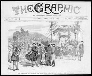 1886-Antique-Print-LONDON-DRURY-LANE-THEATRE-Pantomime-Aladdin-Fair-Women-97