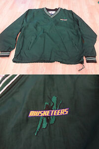 Men's Sioux City Musketeers L Vintage Jacket Pullover Windbreaker Champion