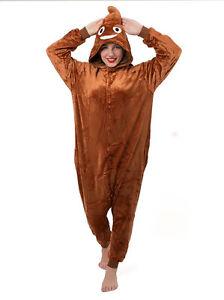 Cadeau-de-Noel-Poo-Emoji-Emoticon-grenouillere-6-Fancy-Dress-Costume-Sweat-A-Capuche-Pyjama-Sleep