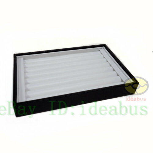 Details about  /1//2//3//4//5PCS Chic White Leatherette Finger Ring Jewelry Display Tray Holder